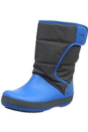 Crocs Unisex-Kinder LodgePoint Snow Boot Kids Schneestiefel, (Slate Grey/Ocean)