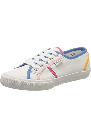 Pepe Jeans London Mädchen Baker Binding Sneaker, (White 800)
