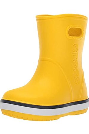 Crocs Crocband Rain Boot Kids, Unisex-Kinder Gummistiefel, Gelb (Yellow/Navy 734)
