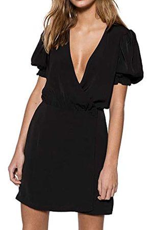 Ivyrevel Damen Puff Sleeve Overlap Dress Kleid