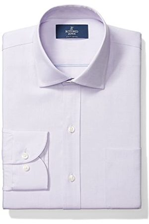 Buttoned Down Slim Fit Solid Pocket Options Smoking Hemd, Purple (with)