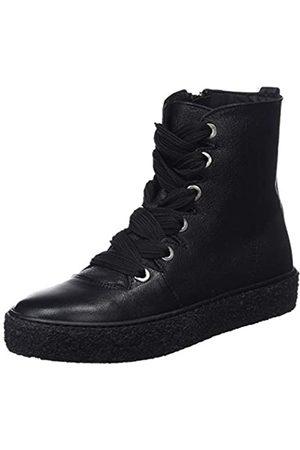 Mamatayoe Damen Wendy Hohe Hausschuhe, (Black Real Leather 001)