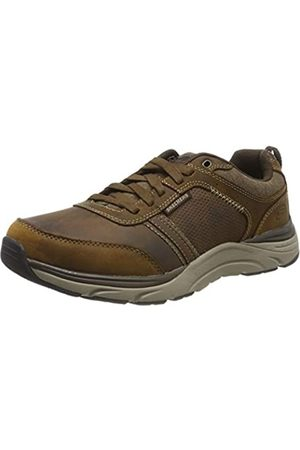 Skechers Men's Sentinal - Lunder Trainers, Brown (Dark Brown Leather Cdb)