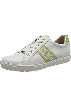 Caprice Damen Manou Sneaker, (White/Lime 170)