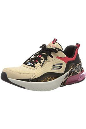 Skechers Damen Skech-AIR Stratus SUPER Galaxy Sneaker, (Natural Mesh/Black Hot Melt/Red & Leopard NTBK)