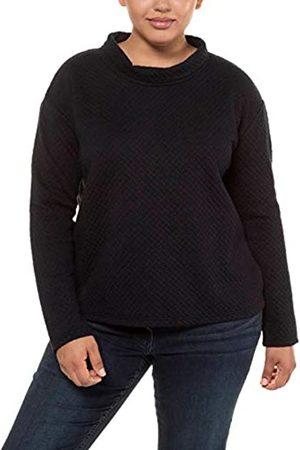 Ulla Popken Damen Struktur-Sweater mit Kragen Pullover
