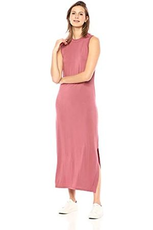 Daily Ritual Amazon-Marke: , Damen-Maxikleid aus Jersey mit Mock-Ausschnitt., Dusty Pink