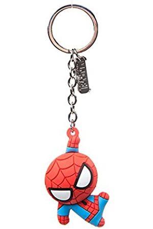 Bioworld Marvel Comics Spider-Man Charakter 3D Anhänger Gummi Schlüsselanhänger, One Size, (Ke020304Spn) Schlüsselanhänger, 16 cm