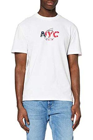 Tommy Hilfiger Herren TJM NYC Small Logo Tee Sport T Shirt, Weiß (White Ybr)
