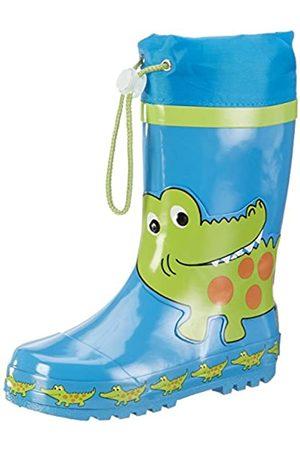 Playshoes Kinder Gummistiefel aus Naturkautschuk, trendige Unisex Regenstiefel mit Reflektoren, mit Krokodil-Motiv, (original)