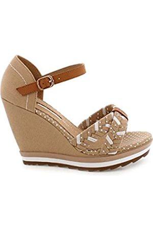 Maria Mare Damen 66347 Kleid-Schuhe, Canvas /Blanco