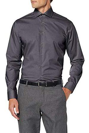 Seidensticker Herren Tailored Fit Langarm mit Spread Kent-Kragen Bügelfrei Uni-100% Baumwolle Businesshemd