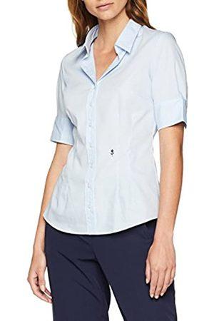 Seidensticker Damen Hemdbluse Kurzarm Slim Fit Uni Bügelfrei Bluse