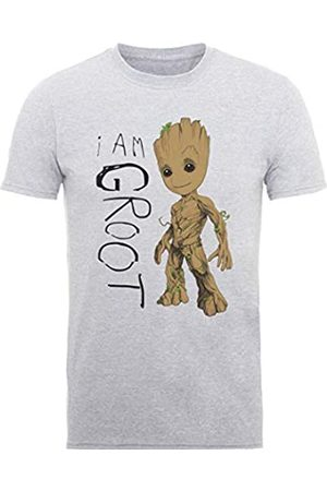 Marvel Herren Guardians of The Galaxy Vol.2 I Am Groot Scribbles, (Sports Grey SpGry) L-T-Shirt