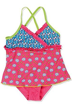 Playshoes Mädchen Einteiler Badeanzug mit Rock Blumen, UV-Schutz nach Standard 801 und Oeko-Tex Standard 100