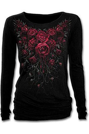 Spiral Damen Blood Rose-Baggy Top Langarmshirt