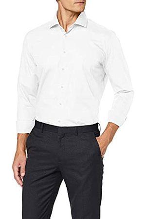 Seidensticker Herren Slim Fit Langarm mit Spread Kent-Kragen Bügelleicht Print-100% Baumwolle Businesshemd