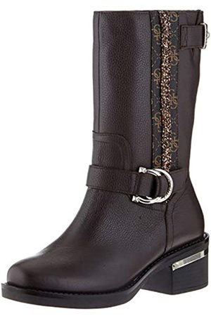 Guess Damen Finnie/Stivale (Boot)/Leather Langschaftstiefel, (Brown Brown)
