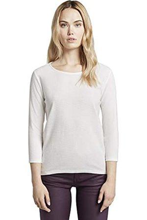 TOM TAILOR Damen Leichtes Strukturshirt Bluse