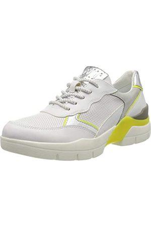 Marco Tozzi Damen 2-2-23740-34 Sneaker, Mehrfarbig (White/Neon YEL 132)
