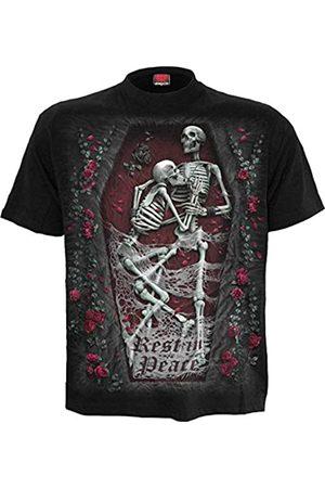 Spiral Damen Tribal Rose-Cold Shoulder Goth Bottom Top T-Shirt