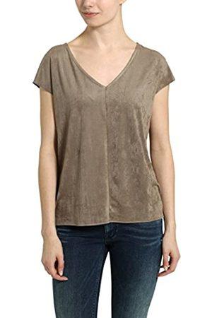 Berydale Damen-T-Shirt mit V-Ausschnitt, Taupe
