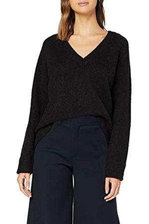 Selected Damen Slflanna Ls Knit V-Neck Noos Pullover