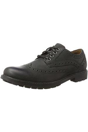 Clarks Herren Curington Wing Brogues, (Black Leather)