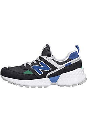 New Balance Unisex-Kinder 574S v2 Sneaker, (Black/Uv Blue Sl)