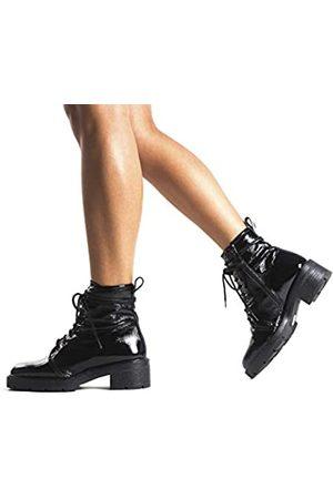 L'INTERVALLE Damen SIBBLE Combat Boots, (Black Naplack 0022)