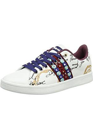 Desigual Damen Shoes_Cosmic Exotic Lettering Sneaker, (Blanco)