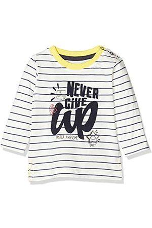 Blue Seven Baby-Jungen Mini Langarmshirt Gestreift Mit Front-Print Sweatshirt