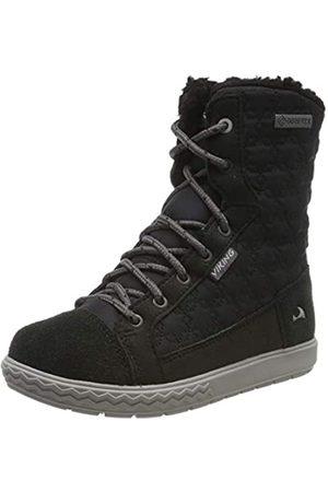 Viking Mädchen Zip II GTX Hohe Sneaker, Black/Black