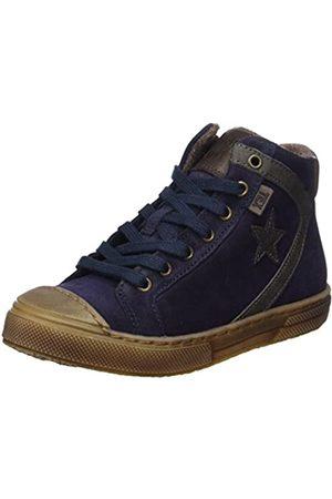 Bisgaard Unisex-Kinder Schnürschuhe Hohe Sneaker, (606 Blue)