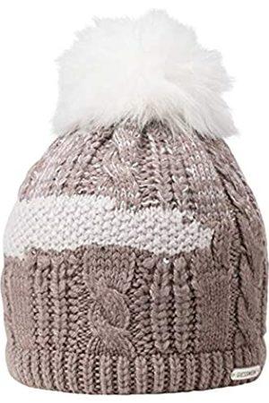 Giesswein Bommelmütze Auersberg - Damen Mütze aus Merino Wolle, warmes Fleece Futter, glitzernde Strass Steine und Nieten, Flauschiger Bommel aus Kunstfell