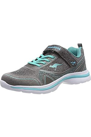 KangaROOS Unisex-Kinder KangaGirl EV II Sneaker, Mehrfarbig (Dk Silver/Turquoise 9005)