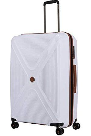 Titan Gepäck Serie PARADOXX: Hartschalen Trolleys mit Akzenten in Leder Optik, Koffer 4-Rad groß mit TSA Schloss, 833404-80, 76 cm