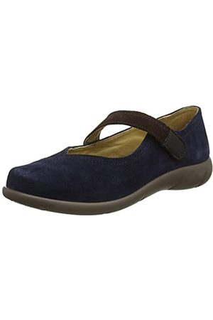 Hotter Damen Wren Mary Jane Halbschuhe, (Navy-Chocolate 369)