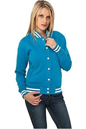 Urban classics Damen Collegejacke Ladies College Sweatjacket, Farbe turquoise