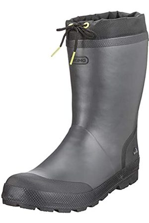 Viking Unisex-Kinder SLAGBJORN JR. WARM Gummistiefel, (Dark Grey/Multi 9150)