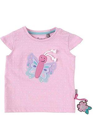 sigikid Baby - Mädchen T-Shirt Kurzarm aus Bio-Baumwolle, abnehmbares Hangtoy
