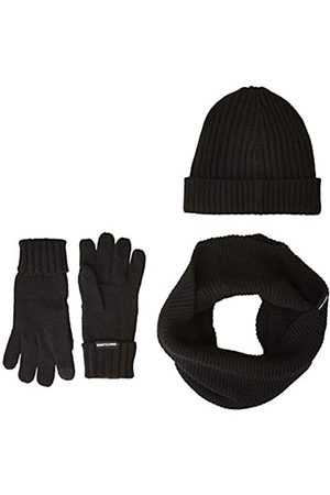 Urban classics Damen & Herren Winter-Strick-Set, black