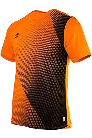 Umbro Herren 65322U Silo Training Velocita Graphic Tee Sporthemd, (Turmeric/Black Grn)