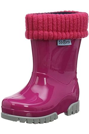 Term Unisex-Kinder Welly with Rolltop Sock Gummistiefel, Pink (Pink 003)