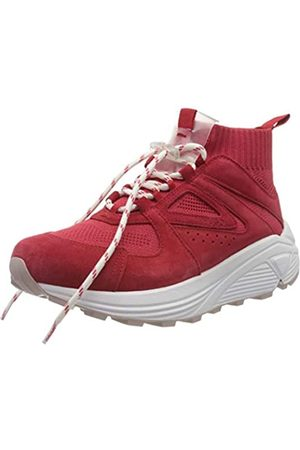 HUGO BOSS Damen Horizon_Runn_Knit_Mx Hohe Sneaker, (Bright Red 621)