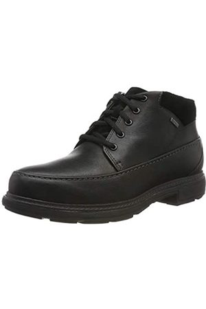 Clarks Herren Un Tread OnGTX Klassische Stiefel, (Black Leather Black Leather)