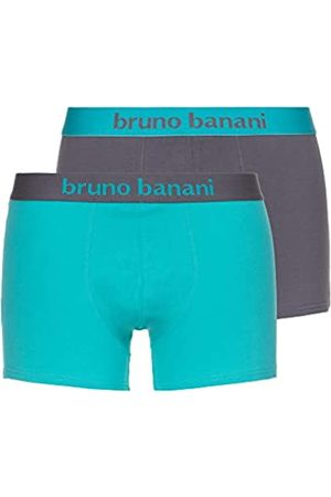 Bruno Banani Herren Short 2er Pack Flowing Boxershorts, Mehrfarbig (Mint// 4005)