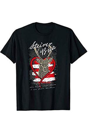 Trachten Hirschkopf Steirer Bua Österreich Trachten Shirt mit Hirschkopf Steirer Bua