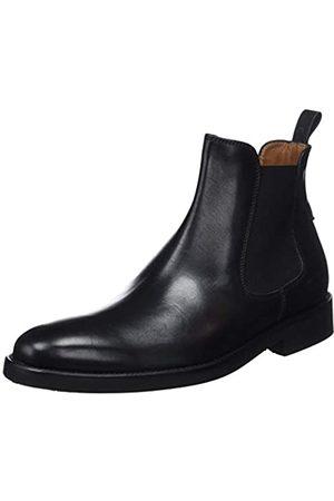 Lottusse Herren L6607 Chelsea Boots, (Ebony Negro)