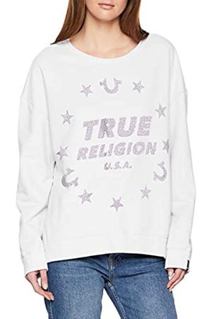 True Religion Damen Crew Sweat Stars Sweatshirt